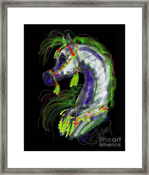 Arabian With Green Tassles Framed Print