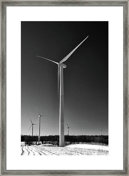 Arcade Wind Turbines 6557 Framed Print