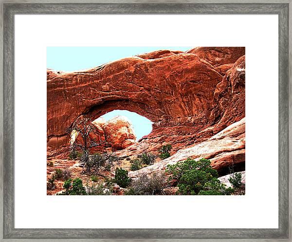 Arch Face Framed Print