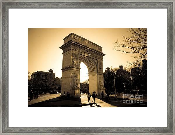 Arch Of Washington Framed Print