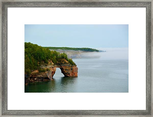 Arch Over Superior Framed Print