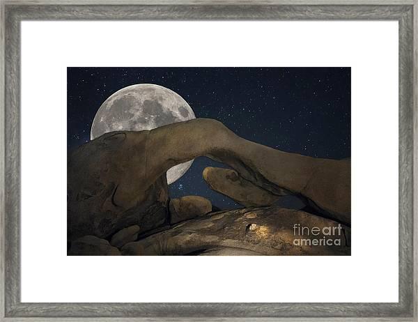 Arch Rock Framed Print