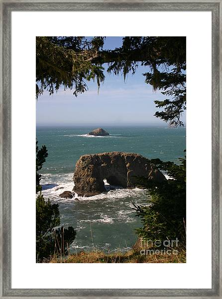 Arch Rock View Framed Print