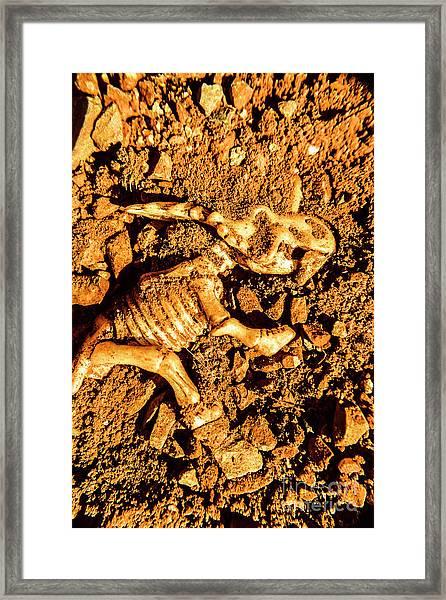 Archaeology Dig Framed Print