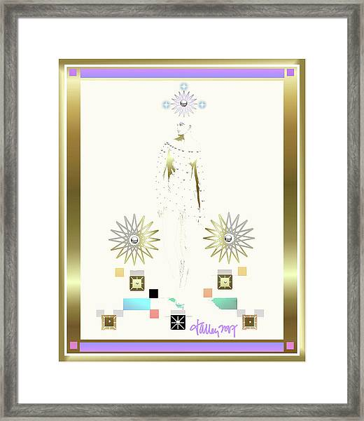 Framed Print featuring the mixed media Archangel Gabriel by Larry Talley