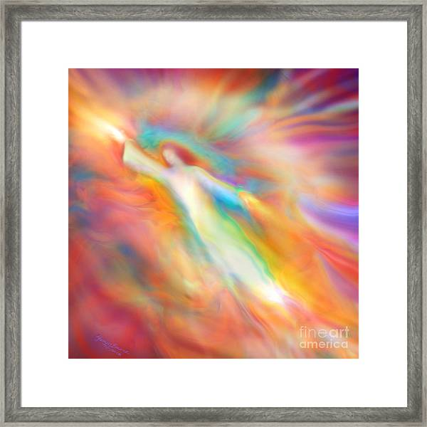Archangel Jophiel Illuminating The Ethers Framed Print