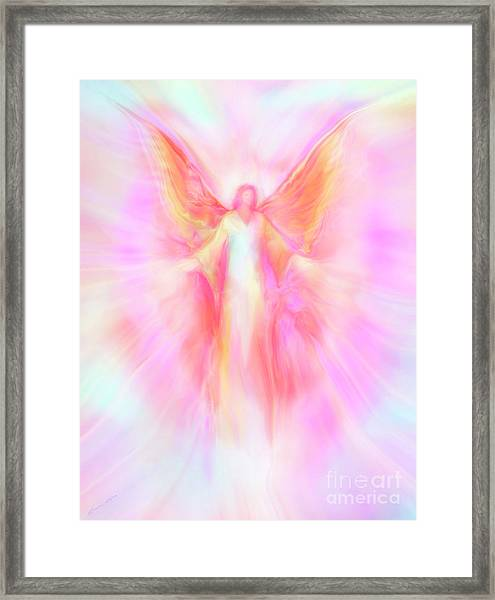Archangel Metatron Reaching Out In Compassion Framed Print