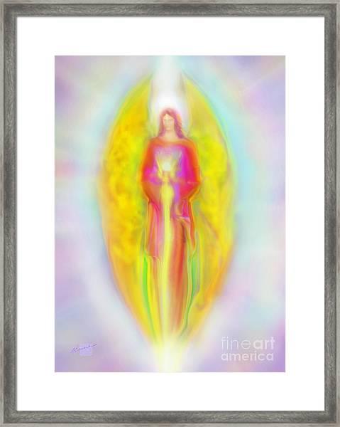 Archangel Michael In Quiet Contemplation  Framed Print