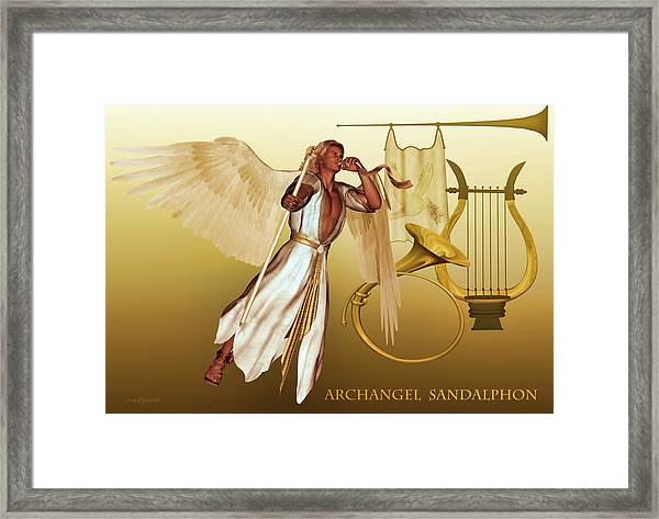 Archangel Sandalphon Framed Print