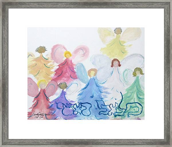 Archangels    Malchei Roshei Framed Print