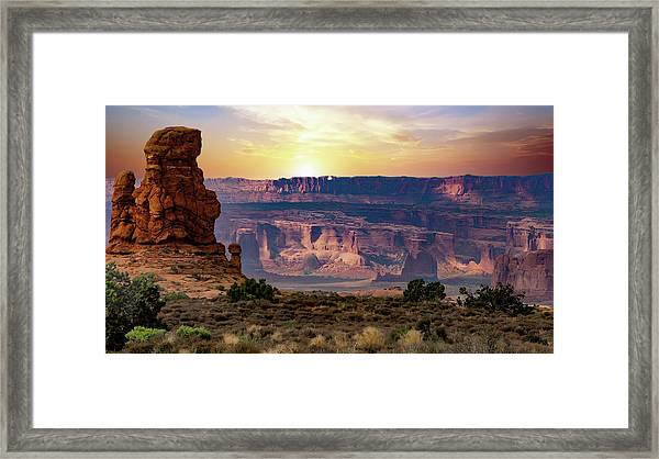 Arches National Park Canyon Framed Print