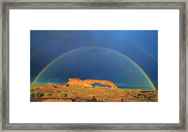 Arches Over The Arch Framed Print