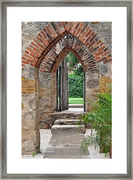 Arches To Heaven Framed Print by Teresa Blanton