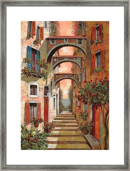 Archetti In Rosso Framed Print