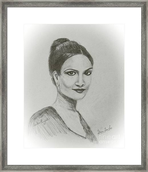 Archie Panjabi Framed Print