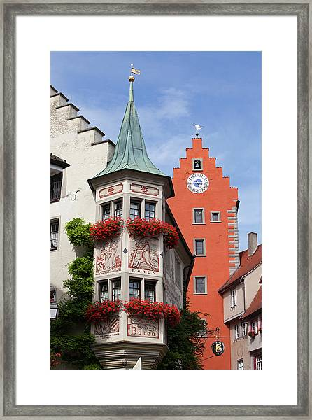Architectural Details In Old City Framed Print