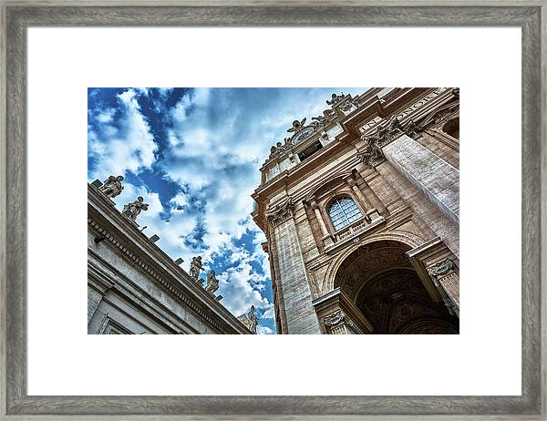 Architectural Majesty On Top Of The Sky Framed Print