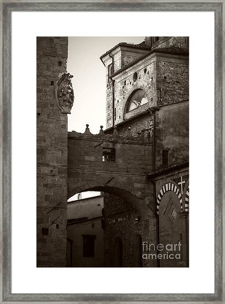 Architecture Of Pistoia Framed Print