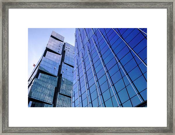 Architecture On The Streets Of Seattle Washington Framed Print