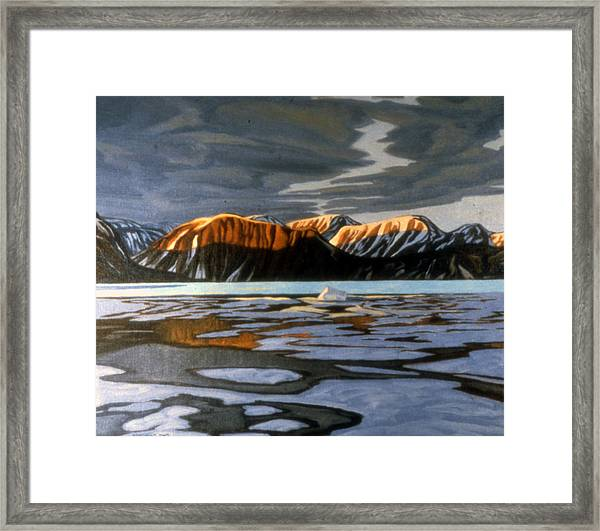 Arctic Ice Breakup Framed Print by Paul Gauthier