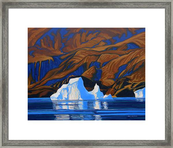 Arctic Tapestry Framed Print by Paul Gauthier