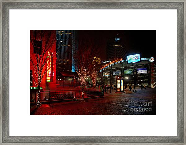 D66l-4 Arena District Photo Framed Print