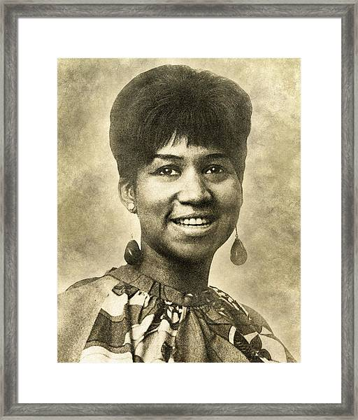 Aretha Franklin Queen Of Soul Framed Print
