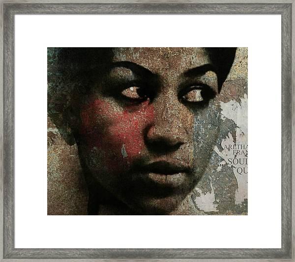 Aretha Franklin - Tribute Framed Print