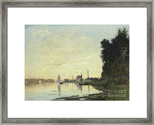Argenteuil In Late Afternoon Framed Print