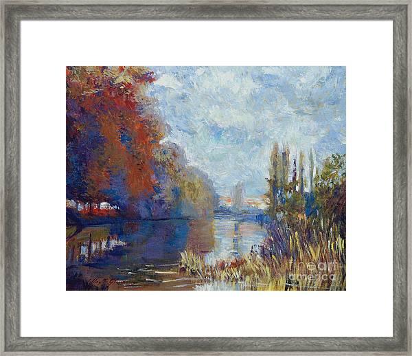 Argenteuil On The Seine - Sur Les Traces De Monet Framed Print