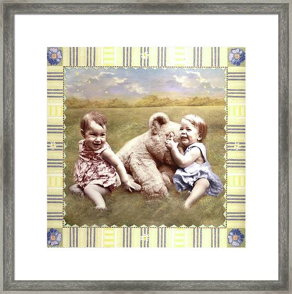 Arial And Emily Framed Print