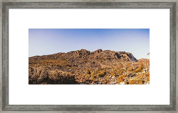 Arid Australian Panoramic Framed Print