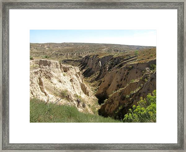 Arikaree Breaks Canyon Framed Print