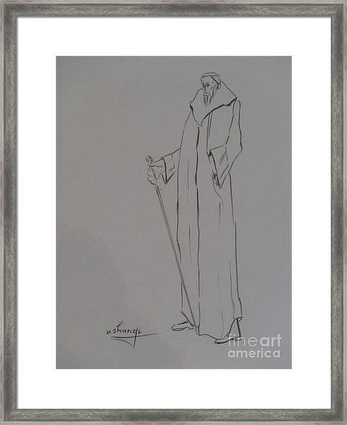 Aristocrat Framed Print by Ushangi Kumelashvili