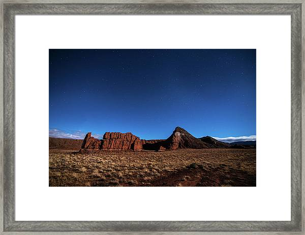 Arizona Landscape At Night Framed Print