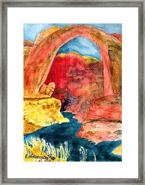 Arizona Rainbow Framed Print