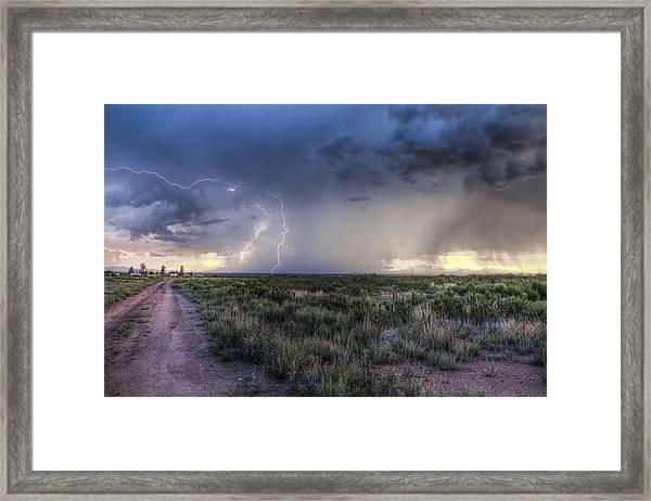 Arizona Storm Framed Print