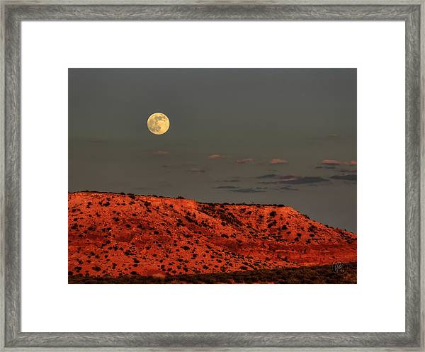 Framed Print featuring the photograph Arizona Supermoon 001 by Lance Vaughn