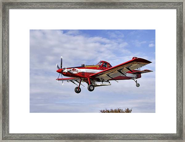 Arkansas Razorbacks Crop Duster Framed Print