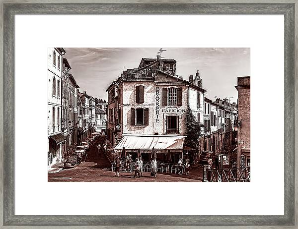 Arles, France, In Sepia Framed Print