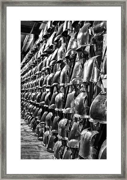 Armor Row Framed Print