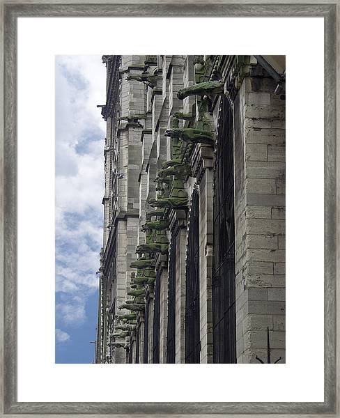 Army Of Gargoyles Framed Print