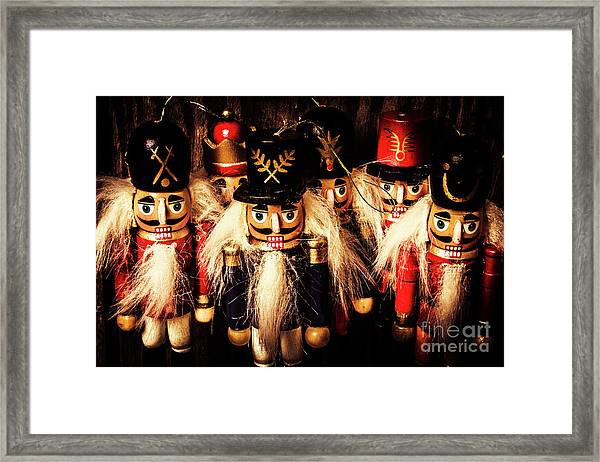 Army Of Wooden Soldiers Framed Print