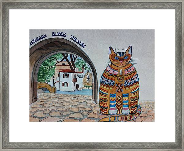 Arneson Theatre Cat Framed Print