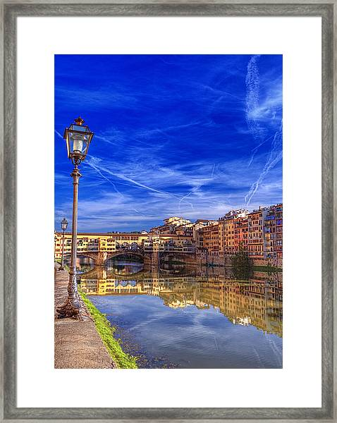 Arno River Florence Framed Print by Clint Hudson