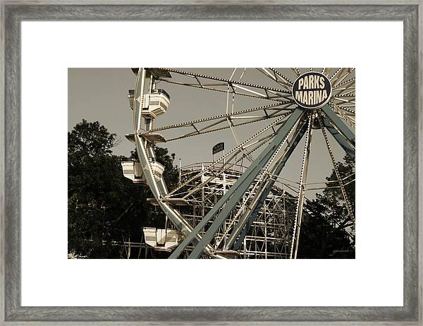 Arnolds Park Ferris Wheel Framed Print