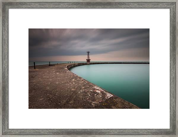 Around The Aqua Framed Print
