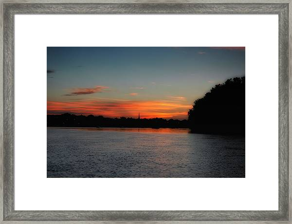 Around The River Bend Framed Print by Ross Powell