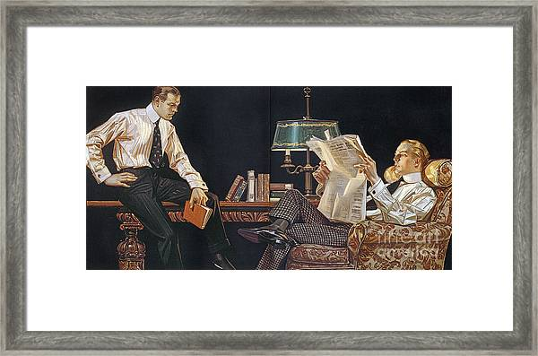 Arrow Shirt Collar Ad, 1914 Framed Print