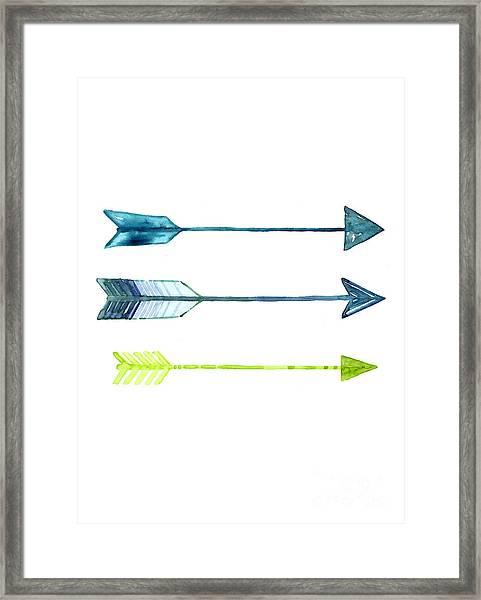 Arrows Watercolor Art Print Framed Print